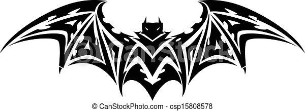 Bat tattoo, vintage engraving. - csp15808578