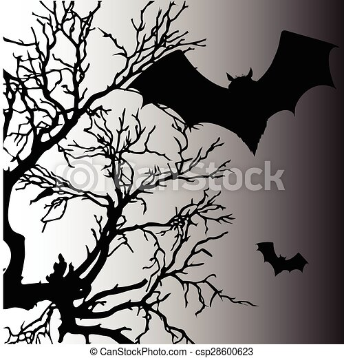 bat vector silhouette illustration - csp28600623