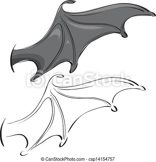 bat wings - csp14154757