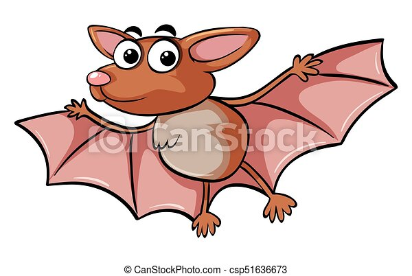 Bat with happy face - csp51636673