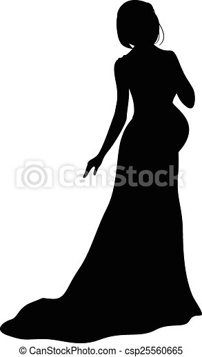 Mujer embarazada en bata - csp25560665
