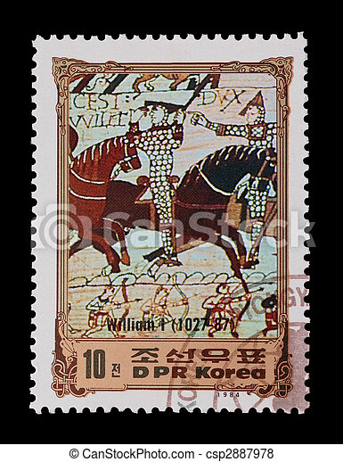 Bataille, hastings. Dpr, timbre, korea:, 1066, bataille ...