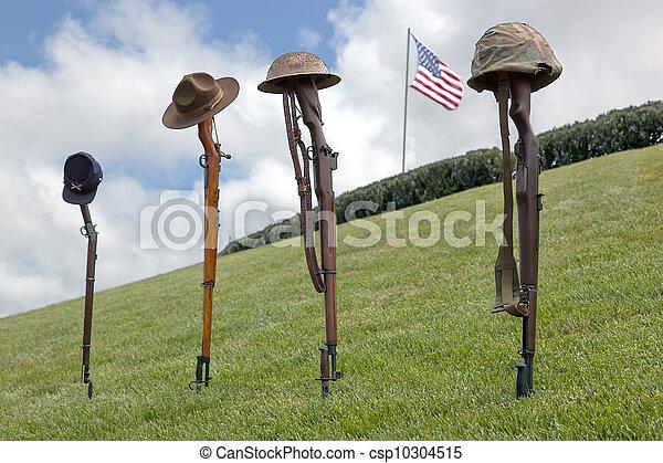 batalha, soldado, cruzes, caído - csp10304515