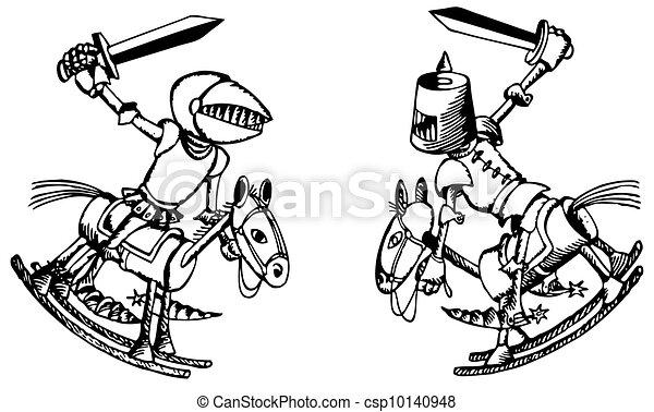 Batalla de los caballeros de juguete - csp10140948