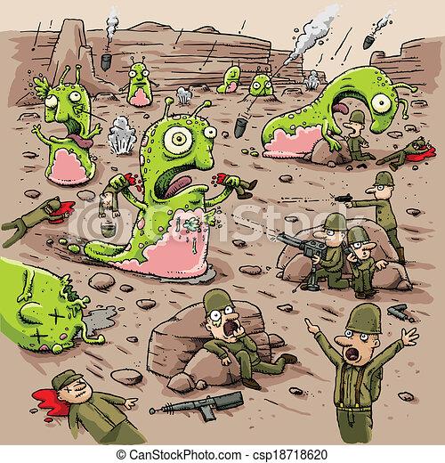 Batalla contra alienígenas - csp18718620