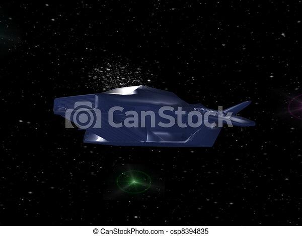Nave de batalla en el espacio profundo - csp8394835