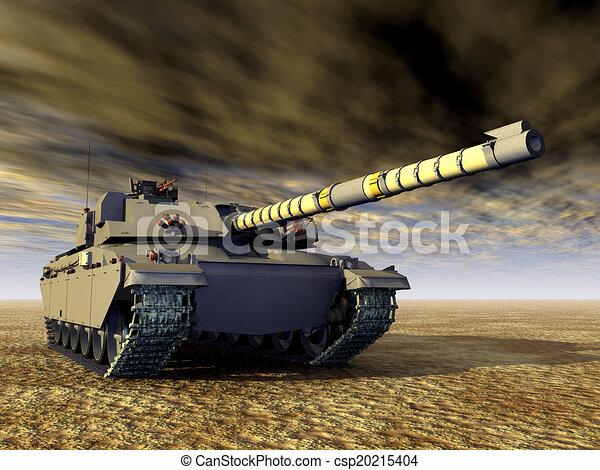 Tanque de batalla principal británico - csp20215404