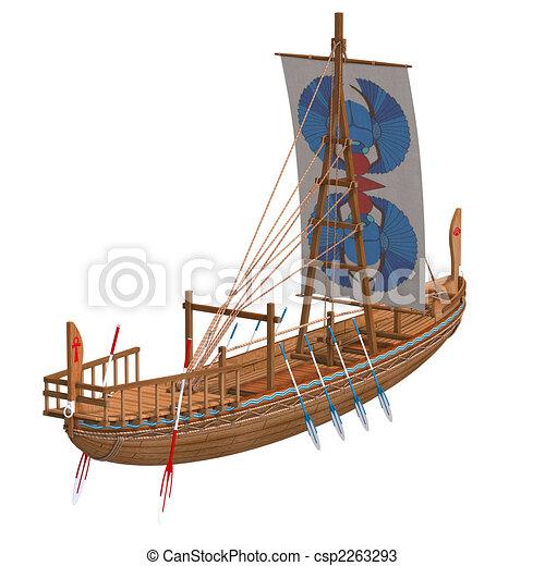 bateau egyptien