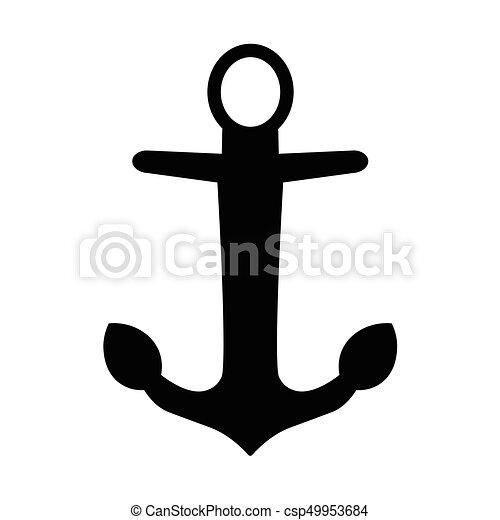 Ancre De Bateau Dessin bateau, ancre, icône. icon-, bateau, vecteur, ancre, illustration.