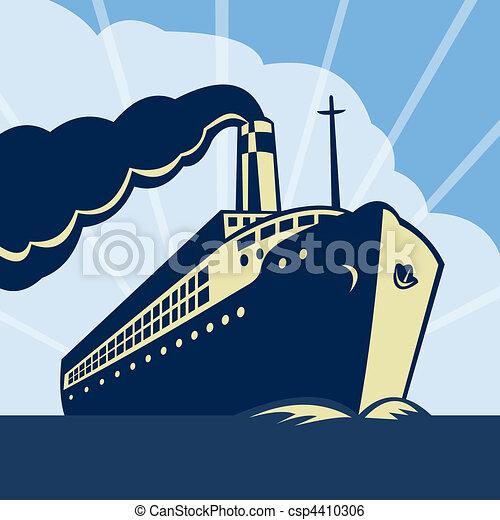 Bateau bateau paquebot mer oc an paquebot - Paquebot dessin ...