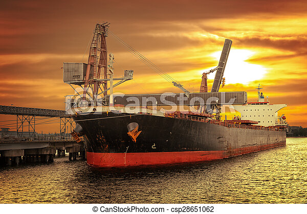 bateau, chargement, sous - csp28651062