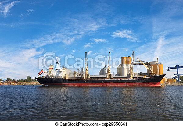 bateau, chargement, sous - csp29556661