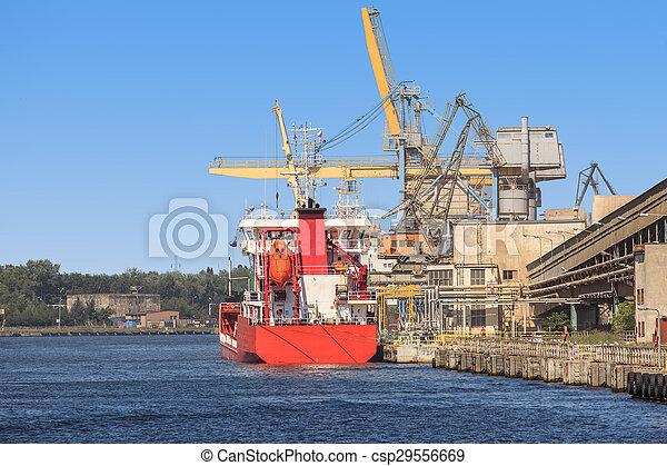 bateau, chargement, sous - csp29556669