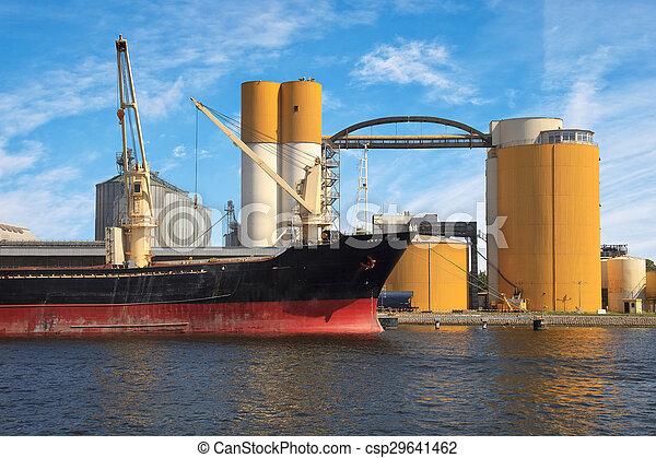bateau, chargement, sous - csp29641462