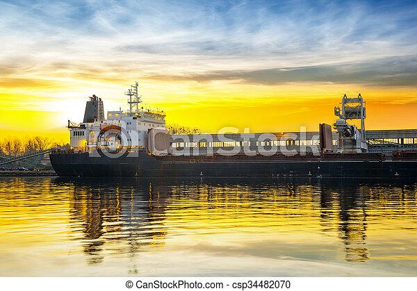 bateau, chargement, sous - csp34482070