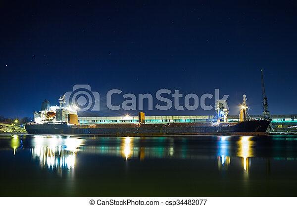 bateau, chargement, sous - csp34482077