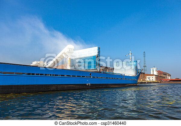 bateau, chargement, sous - csp31460440