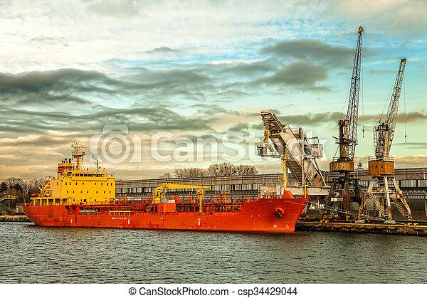 bateau, chargement, sous - csp34429044