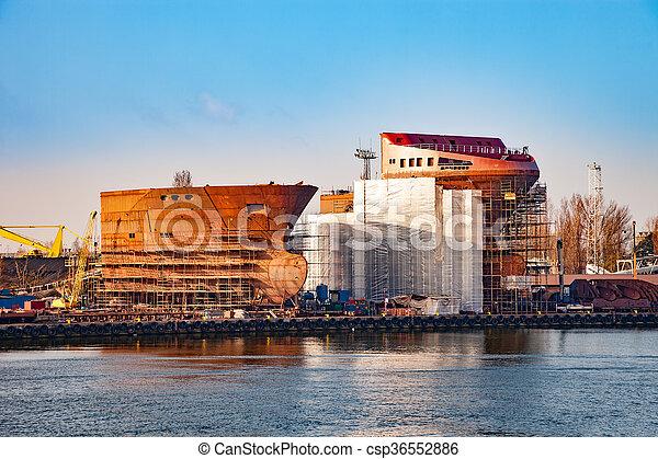 bateau, construction, sous - csp36552886