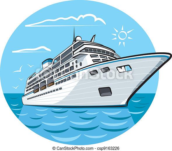 bateau, croisière luxe - csp9163226