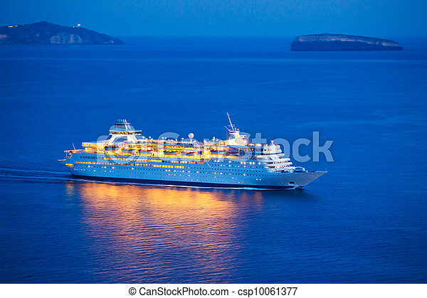 bateau, croisière luxe - csp10061377