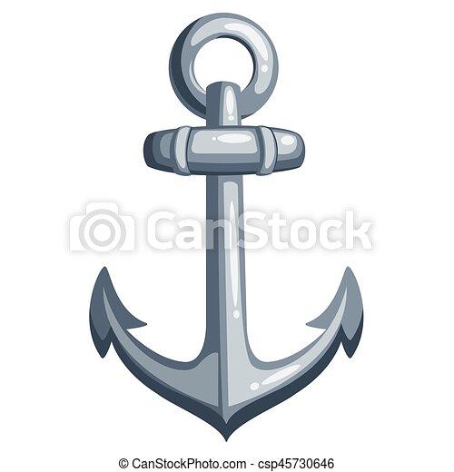 Bateau dessin anim ancre m tal illustration dessin anim vecteur fond anchor blanc - Dessin ancre bateau ...