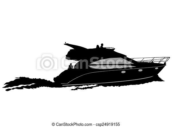 bateau moteur - csp24919155