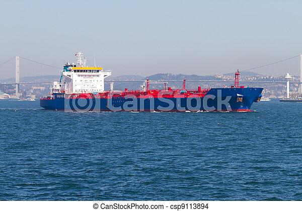 bateau, pétrolier - csp9113894