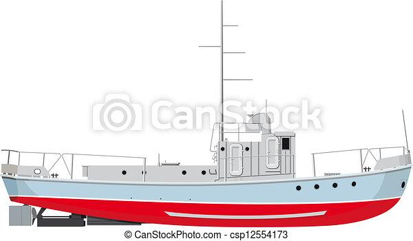 bateau pêche - csp12554173