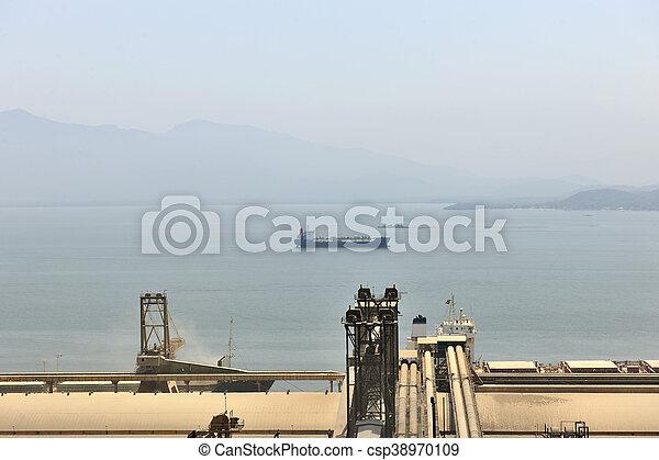bateau, paranagua, grain, port - csp38970109