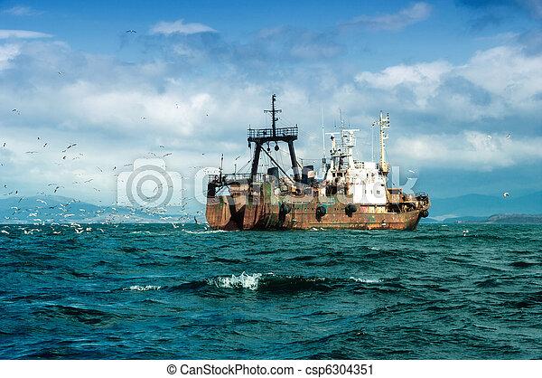 bateau, peche - csp6304351