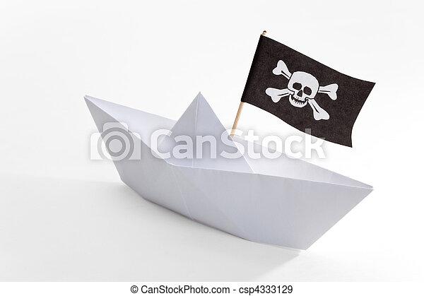 Bateau Pirate Bateau Fond Blanc Pirate Canstock