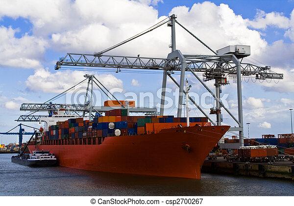 bateau, port, fret - csp2700267