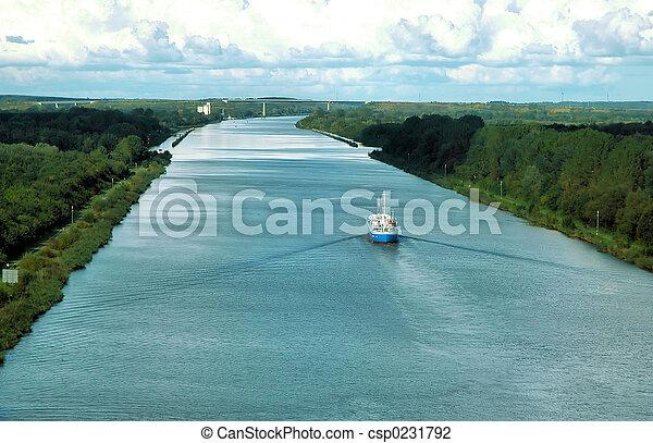 bateau rivière - csp0231792