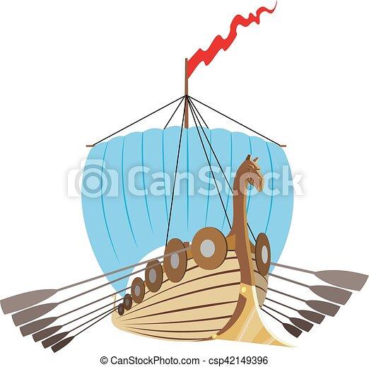 bateau, vikings, drakkar - csp42149396