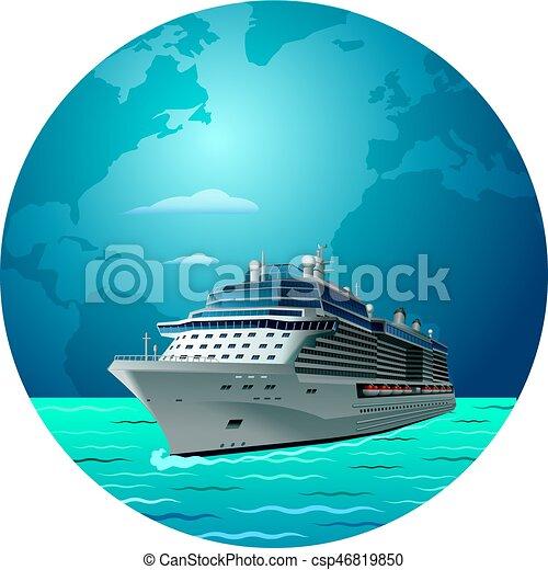 bateau, voyage, croisière - csp46819850