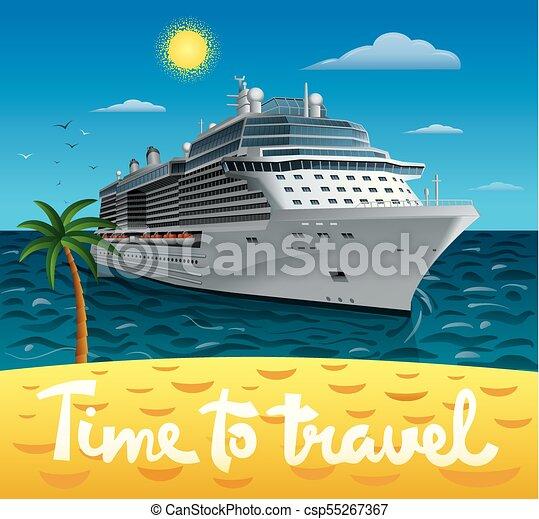 bateau, voyage, croisière - csp55267367
