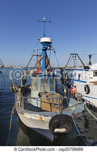 bateaux, port, peche - csp20706689