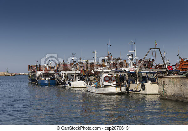 bateaux, port, peche - csp20706131