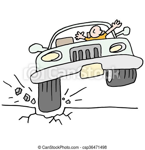 bater, car, pote, hole. - csp36471498