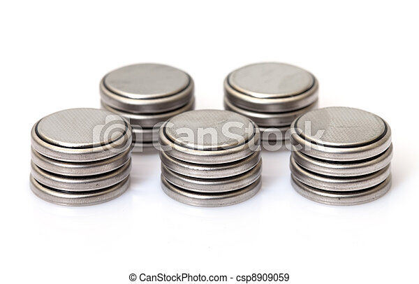 baterias, moeda, lithium - csp8909059