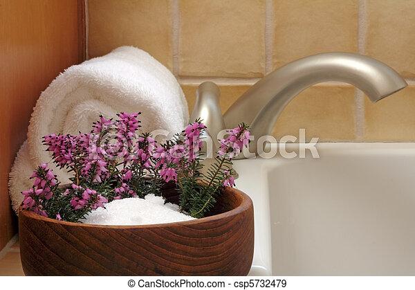 Bath Flowers - csp5732479