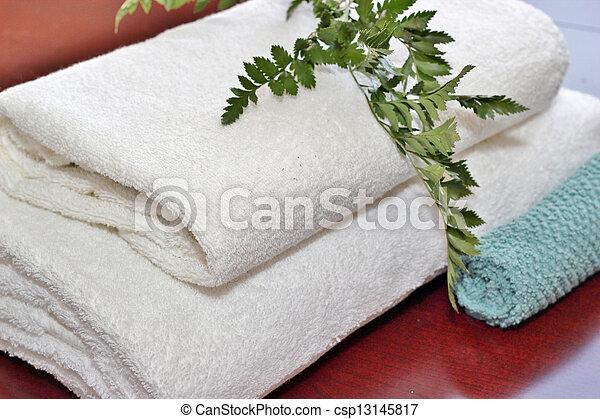 Bath towels - csp13145817