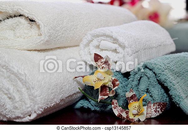 Bath towels - csp13145857