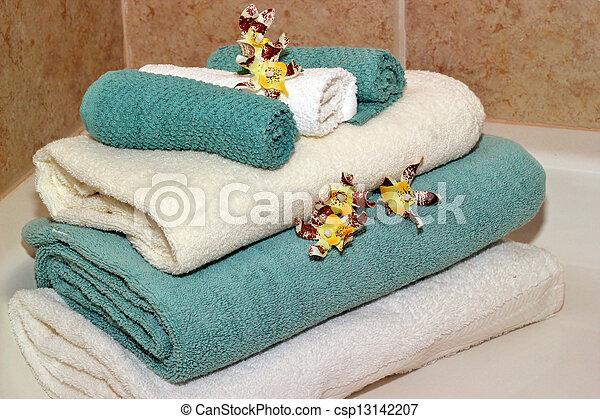 Bath towels - csp13142207
