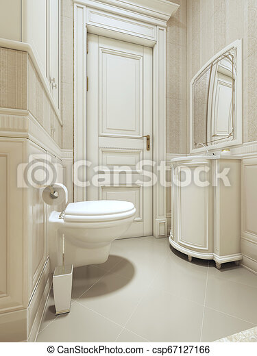 Bathroom Art Deco Style 3d Images Canstock