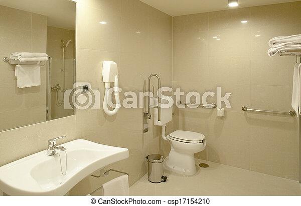 Bathroom at modern Hospital room - csp17154210