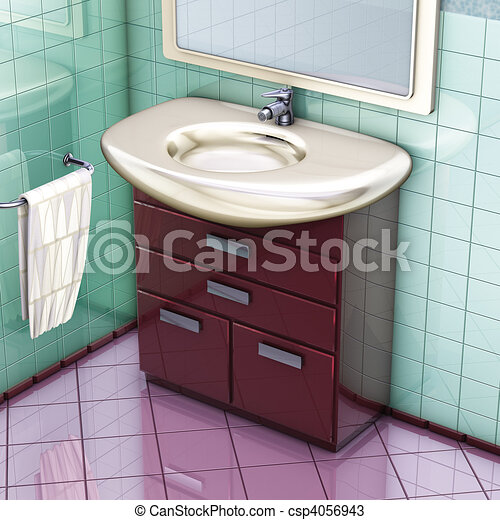 Bathroom cabinet 3d rendering bathroom red cabinet and for 3d bathroom drawing