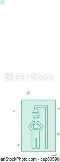 Bathroom icon design vector - csp60599484