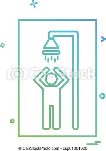 Bathroom icon design vector - csp61001620